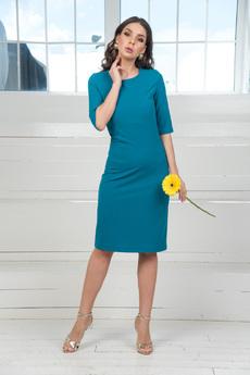 Приталенное платье цвета морской волны Mondigo