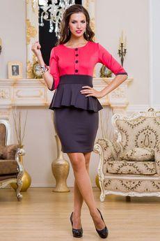 Черное платье с красным верхом Angela Ricci