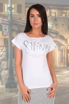 Белая женская футболка с надписями Натали