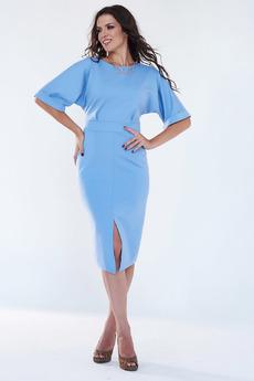 Нарядное голубое платье Angela Ricci со скидкой